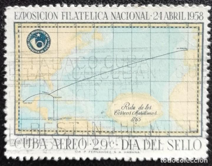 1958. CUBA. A 180. TRAZADO DE RUTAS MARÍTIMAS EN 1765. SERIE COMPLETA. USADO. (Sellos - Extranjero - América - Cuba)