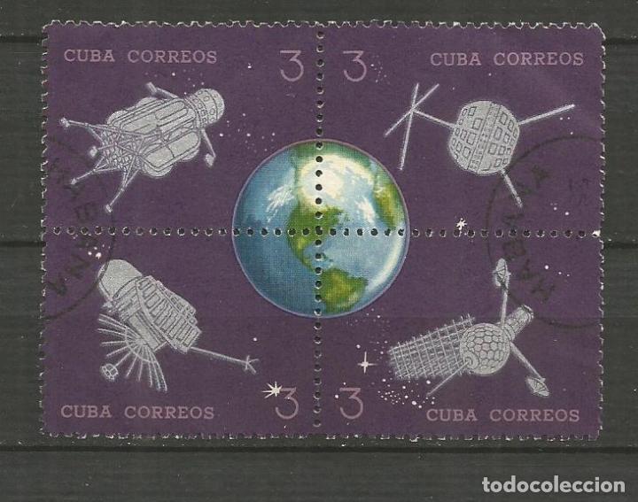 CUBA YVERT NUM. 749/752 USADOS EN BLOQUE TEMA ESPACIO (Sellos - Extranjero - América - Cuba)