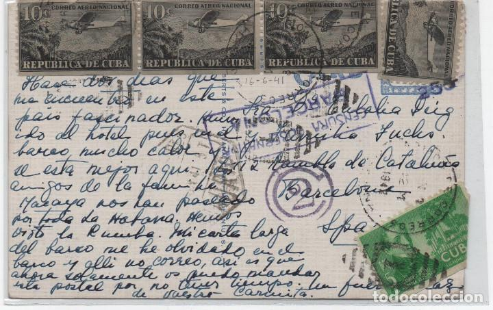 Sellos: Bonita postal enviada a Barelona en 1941 - Foto 2 - 194978058