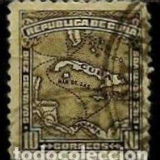 Sellos: CUBA SCOTT: 0259-(1914) (MAPA DE CUBA) USADO. Lote 195073828