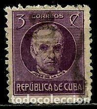 CUBA SCOTT: 0267-(1917) (JOSE DE LA LUZ CABALLERO) USADO (Sellos - Extranjero - América - Cuba)