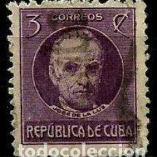 Sellos: CUBA SCOTT: 0267-(1917) (JOSE DE LA LUZ CABALLERO) USADO. Lote 195074435