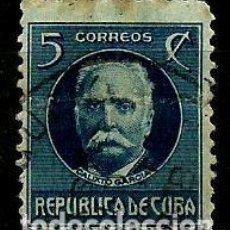 Sellos: CUBA SCOTT: 0268-(1917) (CALIXTO GARCIA) USADO. Lote 195074560