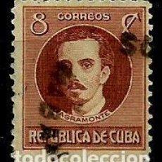 Sellos: CUBA SCOTT: 0269-(1917) IGNACIO AGRAMONTE() USADO. Lote 195074623