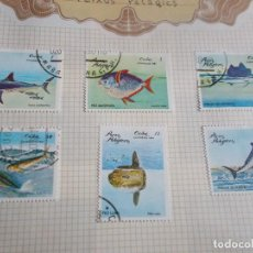 Sellos: CUBA 6 SELLOS PECES PELÁGICOS . Lote 195233531