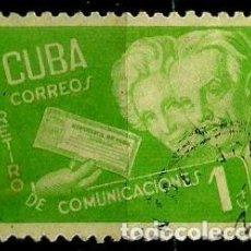 Sellos: CUBA SCOTT: 0399-(1946) (RETIRO DE COMUNICACIONES) USADO. Lote 195238722