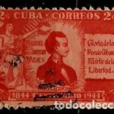 Sellos: CUBA SCOTT: 0402-(1946) (GABRIEL DE LA CONCEPCIÓN VALDÉS) USADO. Lote 195238822