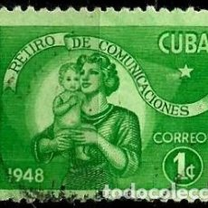 Sellos: CUBA SCOTT: 0415-(1948) (RETIRO DE COMUNICACIONES) USADO. Lote 195239332