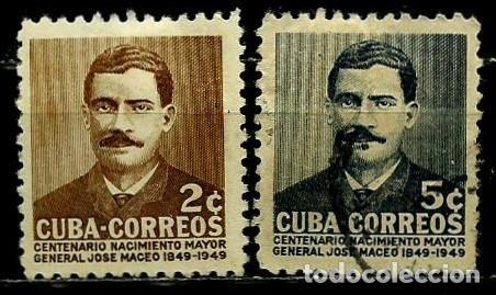 CUBA SCOTT: 0471/72-(1952) (JOSÉ MACEO) USADO (Sellos - Extranjero - América - Cuba)