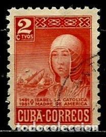 CUBA SCOTT: 0473-(1952) (ISABEL LA CATÓLICA Y FLOTA DE COLÓN) USADO (Sellos - Extranjero - América - Cuba)