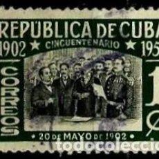 Sellos: CUBA SCOTT: 0475-(1952) (DECLARACION DE INDEPENDENCIA) USADO. Lote 195320693