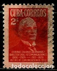 CUBA SCOTT: 0485-(1952) (CHARLES HERNÁNDEZ Y SANDRINO) USADO (Sellos - Extranjero - América - Cuba)
