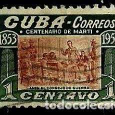 Sellos: CUBA SCOTT: 0501-(1953) ( MARTI Y PEREZ JOSÉ) USADO. Lote 195321777