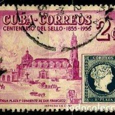 Sellos: CUBA SCOTT: 0539-(1955) (CENTENARIO DE LOS SELLOS ESPAÑOLES DE CUBA) USADO. Lote 195402261