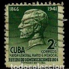 Sellos: CUBA SCOTT: 0543-(1955) (MARIO G. MENOCAL) USADO. Lote 195402455