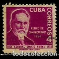 Sellos: CUBA SCOTT: 0544-(1955) (GENERAL EMILIO NUÑEZ) USADO. Lote 195402577