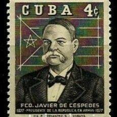 Sellos: CUBA SCOTT: 0622-(1959) (FRANCISCO JAVIER DE CÉSPEDES) USADO. Lote 195424970