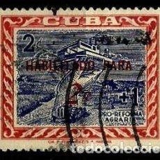 Sellos: CUBA SCOTT: 0624-(1960) (PRO-REFORMA AGRARIA - HABILITADO) USADO. Lote 195425166