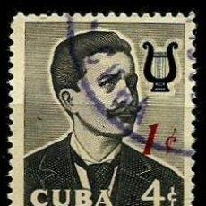 Sellos: CUBA SCOTT: 0629-(1960) (IGNACIO CERVANTES) USADO. Lote 195425280