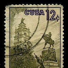 Sellos: CUBA SCOTT: 0640-(1960) (PARQUE IGNACIO AGRAMONTE, CAMAGÜEY) USADO. Lote 195425680