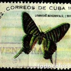 Sellos: CUBA SCOTT: 0697-(1961) (NAVIDAD - POLILLA URANIA) USADO. Lote 195429323