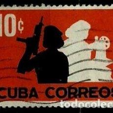 Sellos: CUBA SCOTT: 0705-(1962) (MILICIAS FEMENINAS) USADO. Lote 195429671