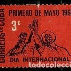 Sellos: CUBA SCOTT: 0711-(1962) (PRIMERO DE MAYO) USADO. Lote 195429748