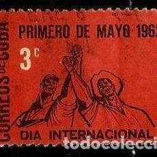 Sellos: CUBA SCOTT: 0711-(1962) (PRIMERO DE MAYO) USADO. Lote 195429767