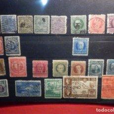 Sellos: LOTE 23 SELLOS REPÚBLICA DE CUBA - MONTADOS EN FICHA DE 21 X 15 CM.. Lote 195446822