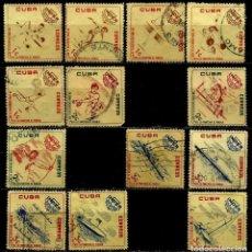 Sellos: CUBA SCOTT: 0713/20--723/27-(1962) (DEPORTES) USADO. Lote 195457900