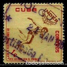 Sellos: CUBA SCOTT: 0714-(1962) (DEPORTE: LANZAMIENTO DISCO) USADO. Lote 195458221