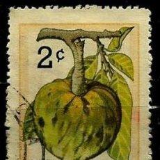 Sellos: CUBA SCOTT: 0802-(1963) (CHIRIMOYA) USADO. Lote 195505528