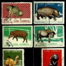 Sellos: CUBA SCOTT: 0895-901-02-03-05-06-(1964) (ZOOLOGICO DE LA HABANA - FAUNA) USADO. Lote 195507400