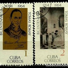 Sellos: CUBA SCOTT: 0927-28-(1964) (TOMAS ROMAY) USADO. Lote 195507855