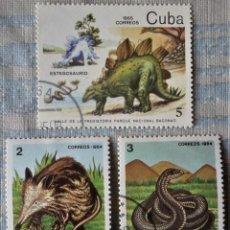 Sellos: TRES SELLOS DE CUBA. Lote 196186938