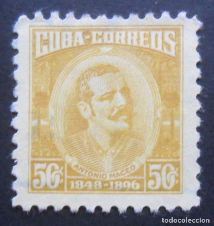 1 SELLOS CUBA 1954 - 50 CENTAVOS - ANTONIO MACEO (Sellos - Extranjero - América - Cuba)