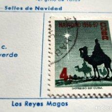Sellos: SELLO DE CUBA 1956 DE NAVIDAD 1956-57 4 CENTAVOS. Lote 198641786