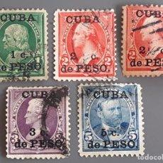 Sellos: CUBA , YVERT 136-140, 1899. Lote 199484427