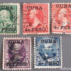 Sellos: CUBA , YVERT 136-140, 1899. Lote 199484457
