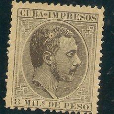 Sellos: COLONIASCUBA EDIFIL 94* MH 8 MILS PESO NEGRO ALFONSO XII 1883/88 NL867. Lote 199709471
