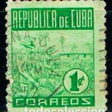 Sellos: CUBA Nº 227, INDUSTRIA DEL TABACO, USADO. Lote 199973958