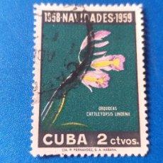 Sellos: SELLO DE CUBA 496. AÑO 1958. NAVIDAD - FLORA - FLORES - ORQUIDEAS.. Lote 203960261