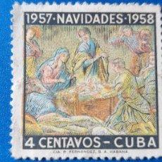 Sellos: SELLO DE CUBA 469. AÑO 1957 - 1958. NAVIDAD.. Lote 203974567