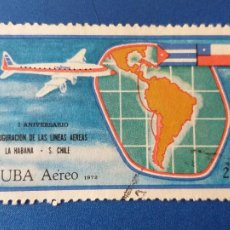 Sellos: SELLO DE CUBA. AEREO. YVERT 253. AÑO 1972. AVIONES - LINEA AEREA LA HABANA - SANTIAGO DE CHILE. Lote 204524400
