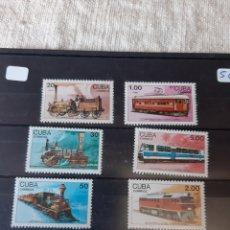 Sellos: CUBA SERIE COMPLETA NUEVA TRENES AÑO 1988. Lote 205388143