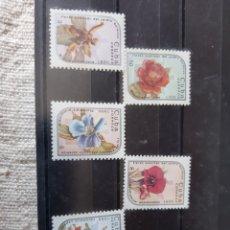 Sellos: CUBA FLORA SERIE COMPLETA NUEVA EDIFIL 2668/73. Lote 205394050