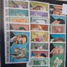 Sellos: CUBA 1989 HISTORIA LATINOAMERICANA PERSONAJES SERIE COMPLETA NUEVA. Lote 205394577