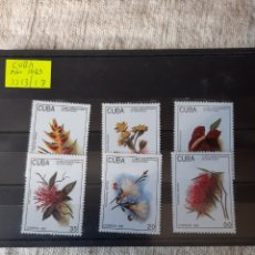 Sellos: CUBA FLORES ALO 1983 EDIFIL 3313/18 SERIE COMPLETA NUEVA. Lote 205401876