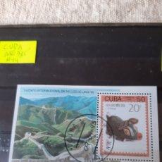 Sellos: CUBA 1995 SERIE HOJA BLOQUE USADA BEIJING ANIMAL CERDITO. Lote 205403518
