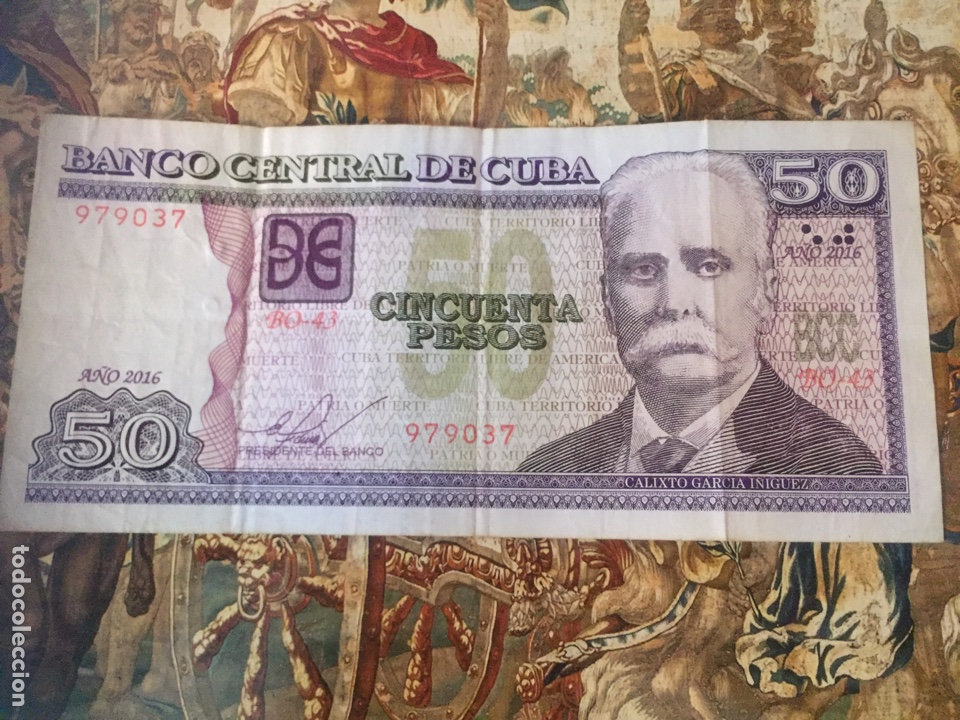 BILLETE 50 PESOS CUBANOS 2016 (Sellos - Extranjero - América - Cuba)